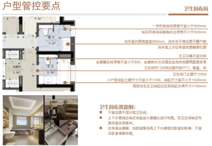 知名房企住宅标准化户型库使用指引(2019年)-卫生间布局