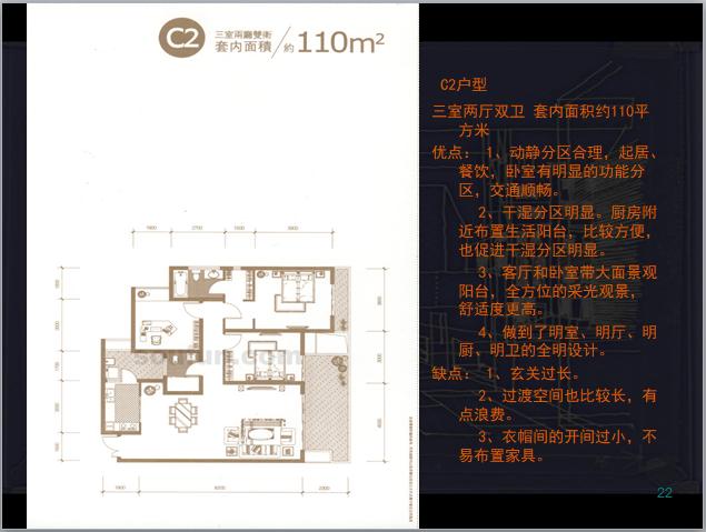住宅户型分享讲解(60页)-C2户型
