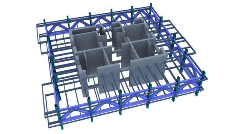 65层塔楼钢结构安装安全专项施工方案-03 环带桁架布置示意图