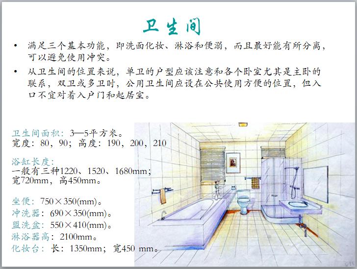 住宅户型解析(PPT)-卫生间