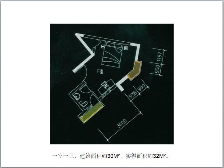 住宅户型解析(PPT)-一室一卫