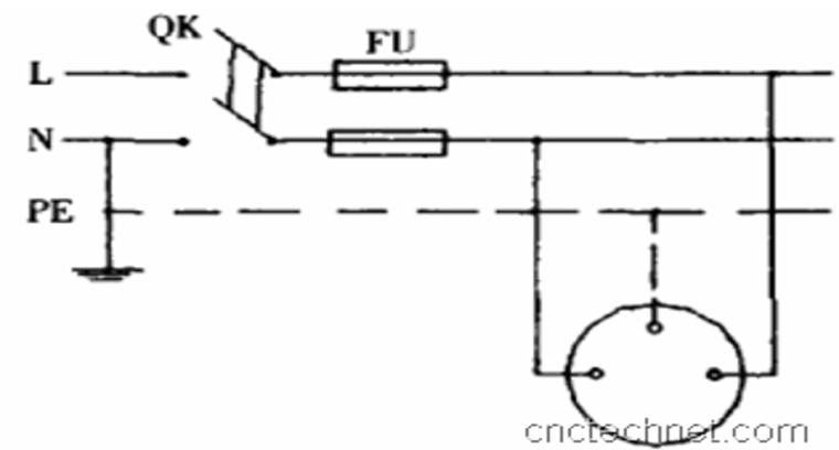 施工现场三相五线制工地电路布线详解PPT-08 TN-S系统单相回路示意图