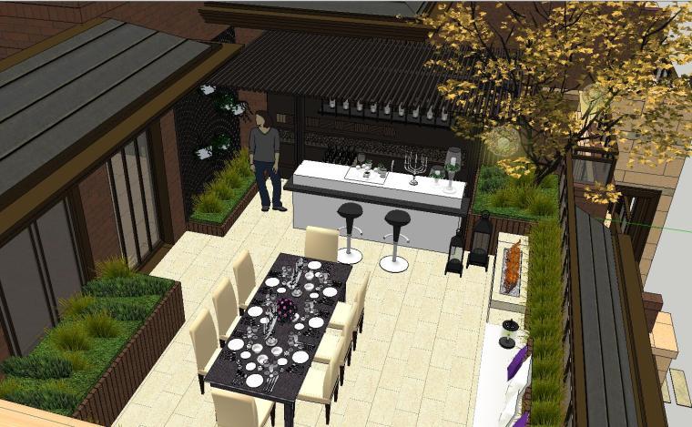舒适型样板房屋顶景观模型设计 (1)