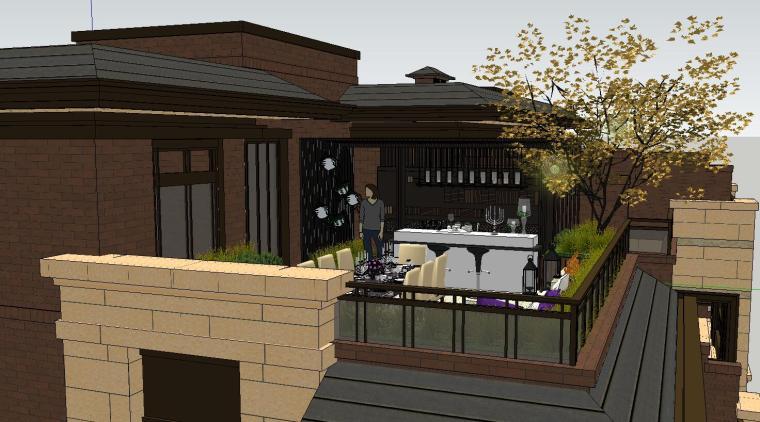 舒适型样板房屋顶景观模型设计 (6)