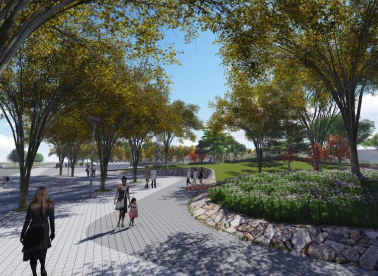 欧式风情街景观资料下载-[上海]生态湿地自行车公园景观方案设计