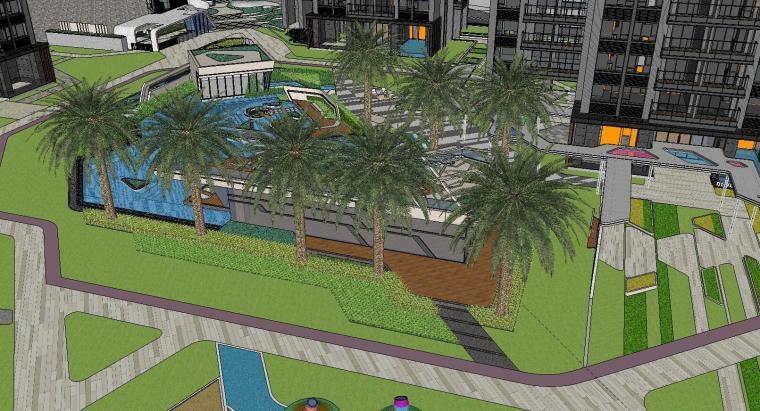 博林住宅小区泳池景观模型设计 (4)