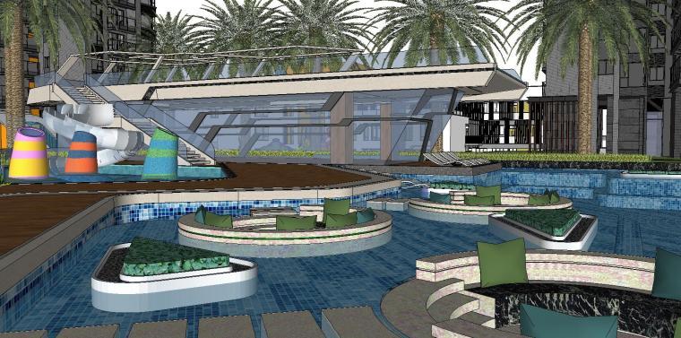 博林住宅小区泳池景观模型设计 (5)