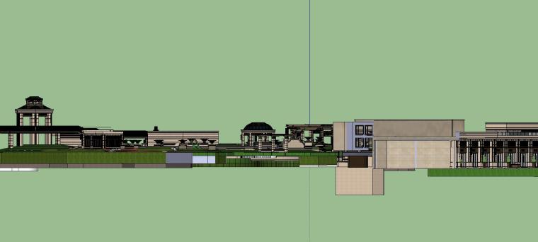知名企业欧陆风格住宅景观模型设计 (4)