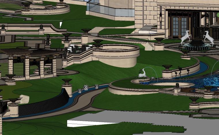知名企业欧陆风格住宅景观模型设计 (6)