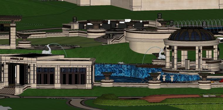 知名企业欧陆风格住宅景观模型设计 (5)