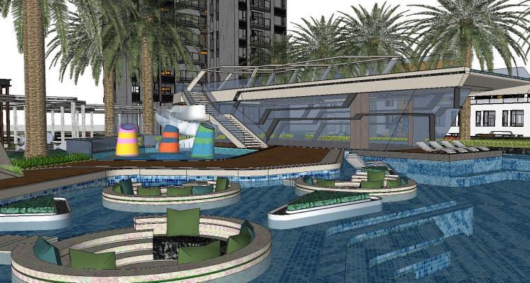 博林住宅小区泳池景观模型设计 (7)
