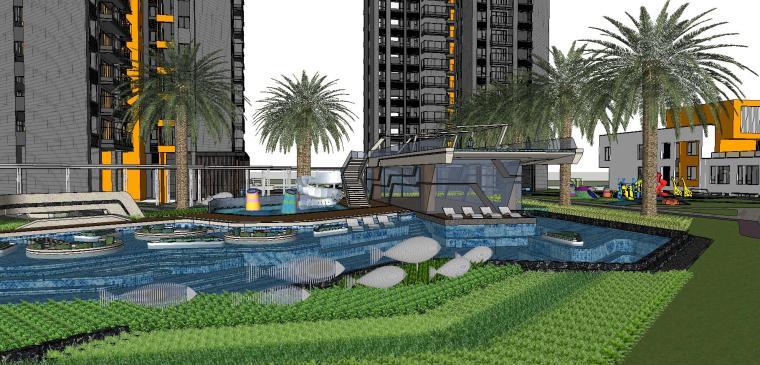 博林住宅小区泳池景观模型设计 (6)