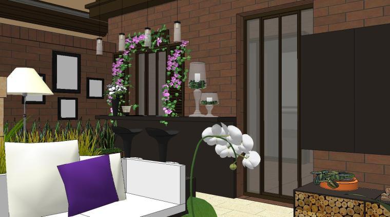 经济庭院屋顶花园景观模型设计 (6)