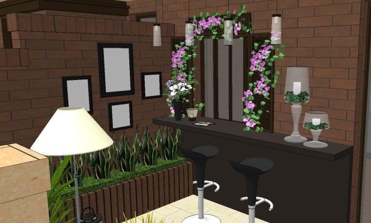 经济庭院屋顶花园景观模型设计 (7)