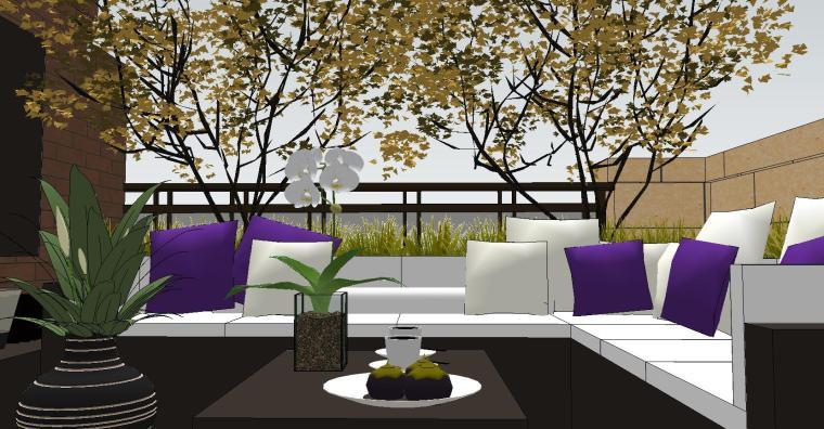 经济庭院屋顶花园景观模型设计 (9)