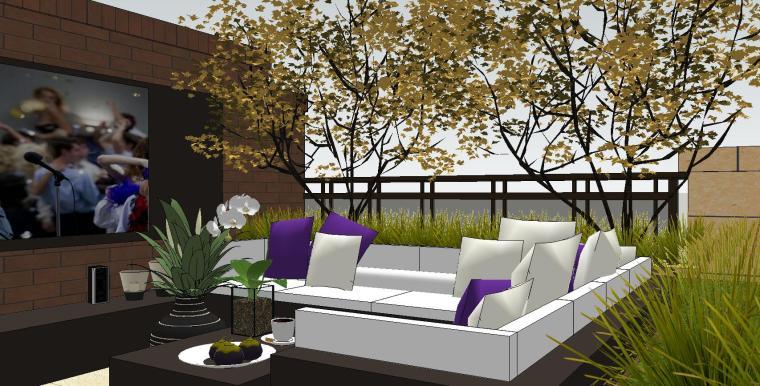 经济庭院屋顶花园景观模型设计 (8)