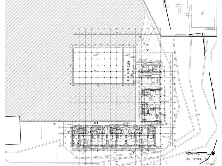 非物质文化遗产传承中心项目建筑含招标文件-地下一层平面图