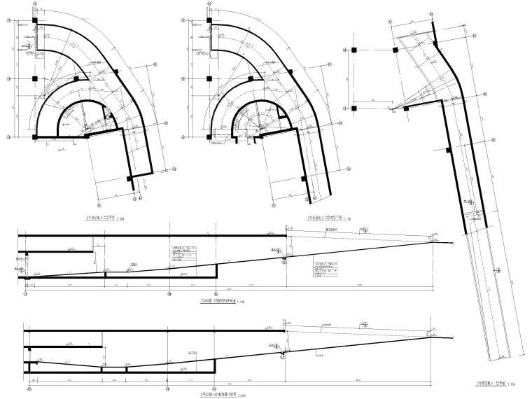 柴油发电机安装大样图资料下载-台阶坡道构造大样图合集(CAD)