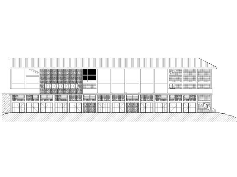 非物质文化遗产传承中心项目建筑含招标文件-立面图1
