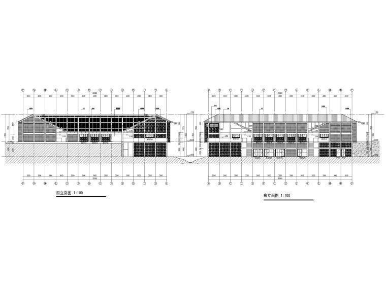 非物质文化遗产传承中心项目建筑含招标文件-立面图3
