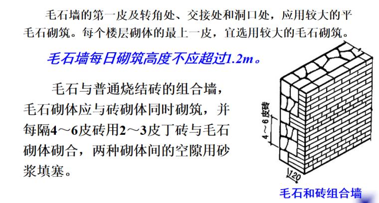 石砌体及砌块砌体施工培训讲义PPT-04 毛石墙
