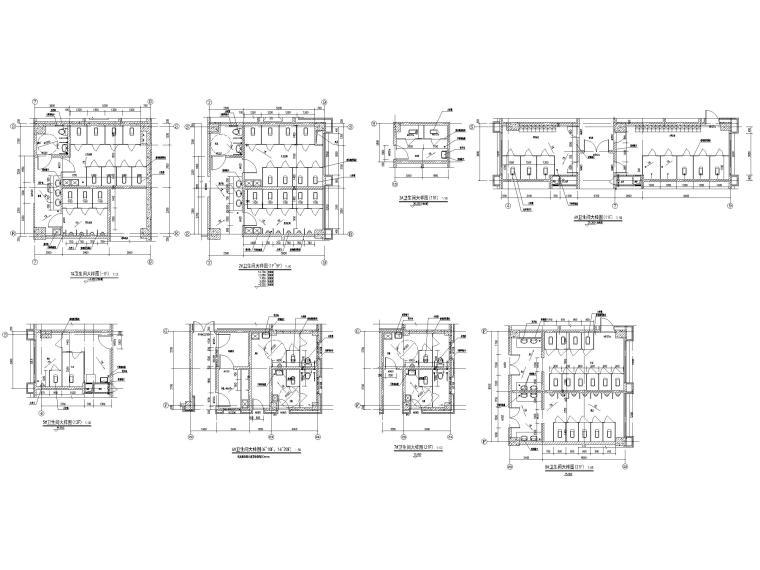 高层框剪医院骨科综合楼建筑施工图2018-卫生间大样图