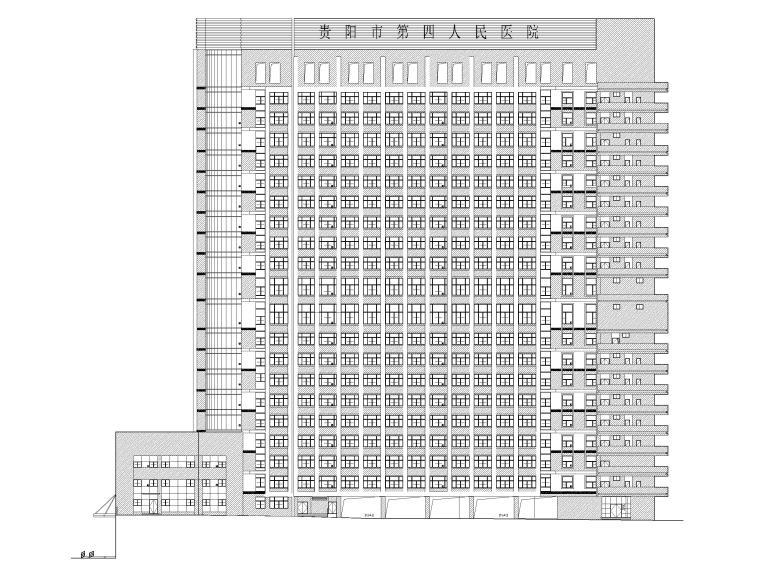 高层框剪医院骨科综合楼建筑施工图2018-立面图1