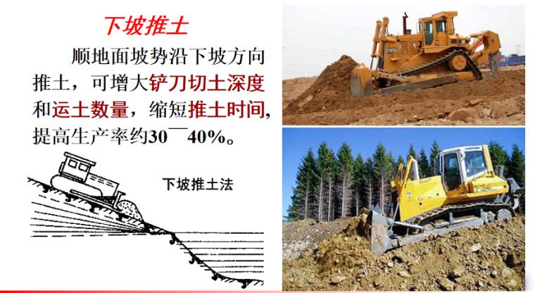 机械化施工及填土压实施工培训讲义PPT-02 下坡推土