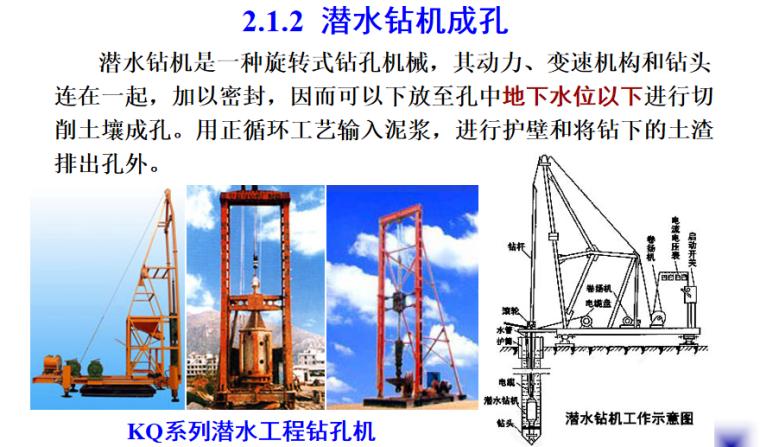 钢筋砼灌注桩施工培训讲义PPT-03 潜水钻机成孔