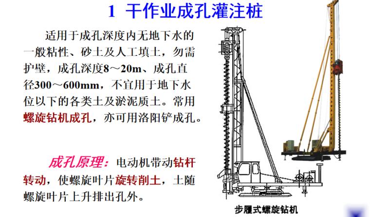 钢筋砼灌注桩施工培训讲义PPT-02 干作业成孔灌注桩