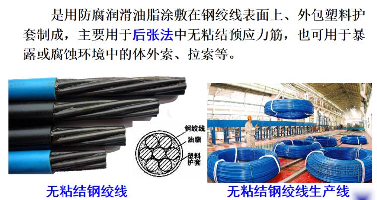 预应力材料及机具施工培训讲义PPT-05 无粘结钢绞线