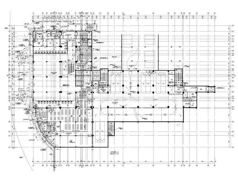 高层框剪医院骨科综合楼建筑施工图2018-一层平面图