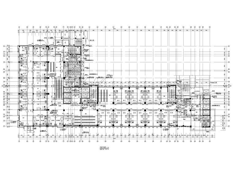 高层框剪医院骨科综合楼建筑施工图2018-四层平面图