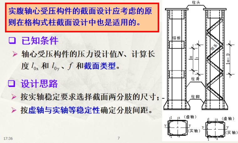 钢结构基本原理轴心受力构件培训讲义PPT-02 轴心受压柱的设计