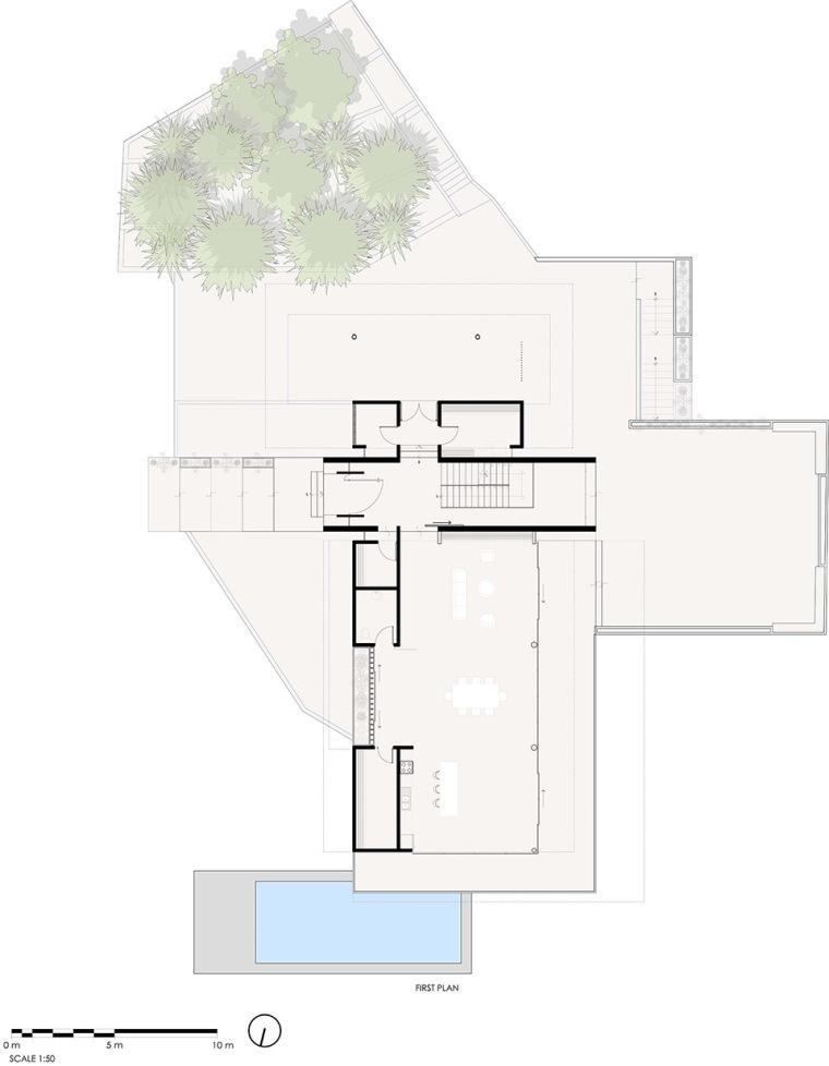 哥斯达黎加TresAmore家庭住宅平面图