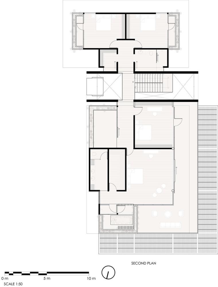 哥斯达黎加TresAmore家庭住宅平面图2
