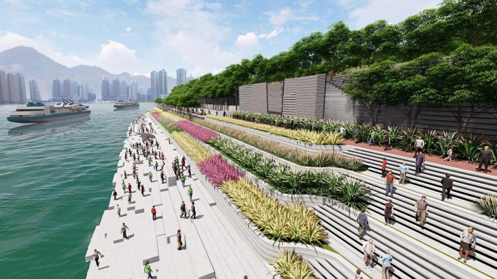 欧式风情街景观资料下载-重庆两江四岸治理景观提升方案设计-土人