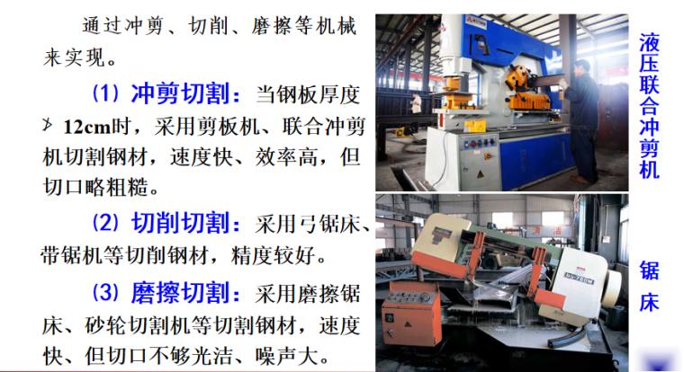 钢结构工程施工培训讲义PPT-03 机械剪切下料
