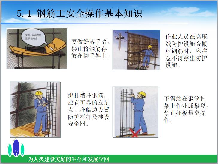 知名企业施工安全培训讲义(79页)-钢筋工安全操作基本知识