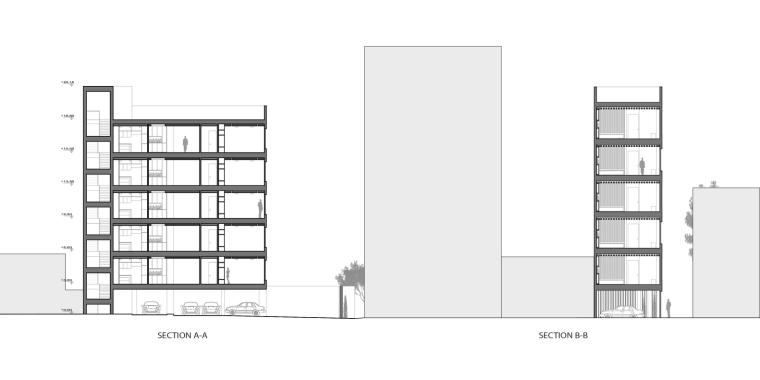 伊朗达鲁斯大厦剖面图