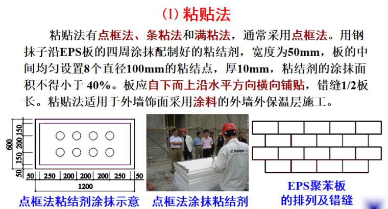 节能保温及裱糊涂饰工程施工培训讲义PPT-03 EPS板的固定方法