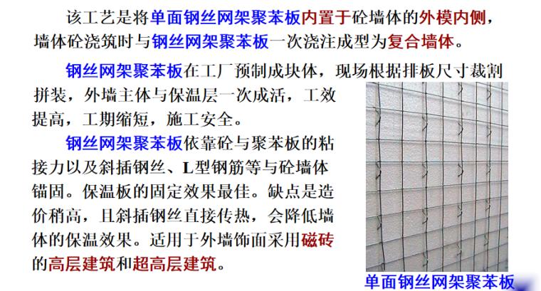 节能保温及裱糊涂饰工程施工培训讲义PPT-04 钢丝网架埋入法