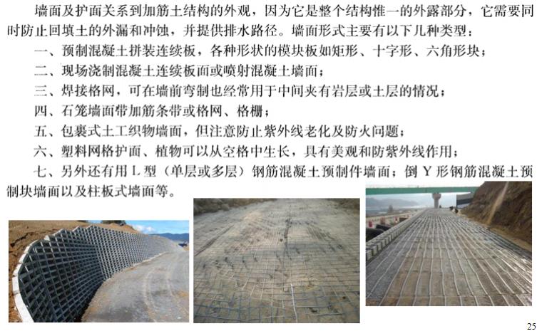 地基处理方法之加筋法概述讲义PPT-06 墙面及护面