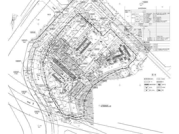 高层框剪医院骨科综合楼建筑施工图2018-总平面图