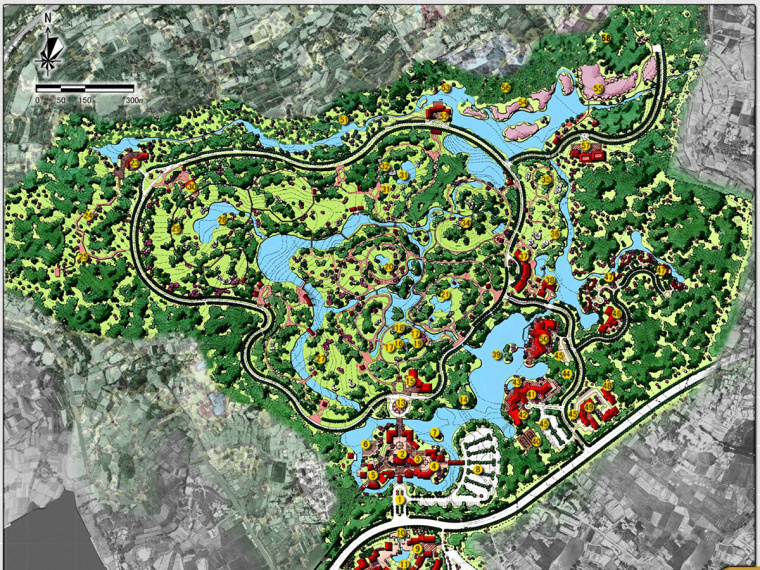 [四川]成都园林生态公园景观规划设一分钟一开的快三怎么玩计方案