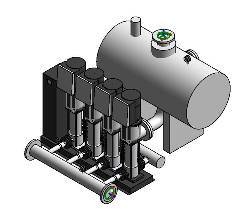 revit室内装饰族资料下载-全变频供水设备水泵Revit族文件