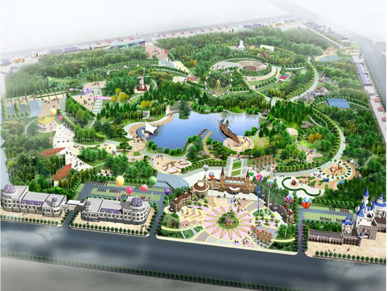 儿童游乐园cad图纸资料下载-[内蒙古]游乐园场地景观规划设计方案