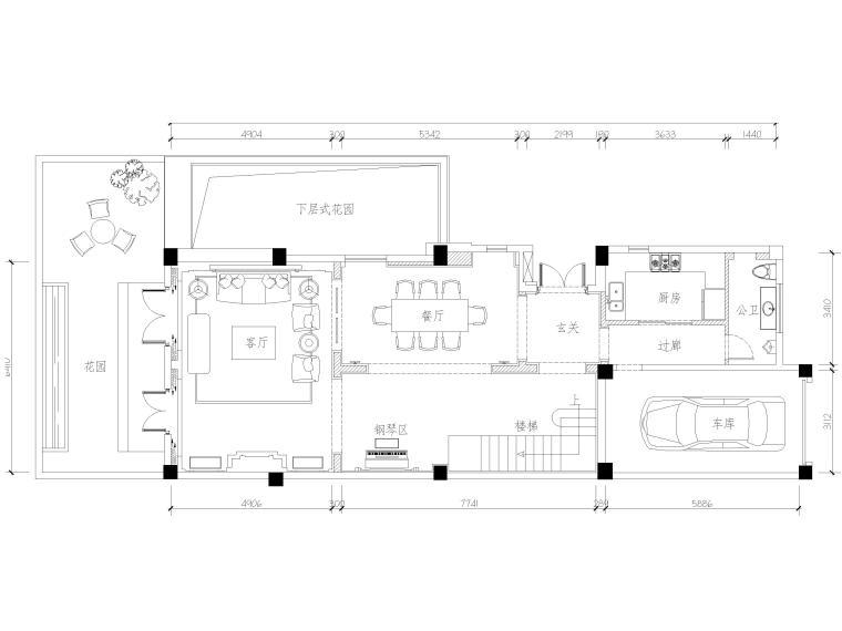 欧式一层别墅cad资料下载-[上海]1443㎡欧式二层两居别墅装修施工图