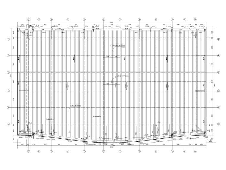 重庆机场航站楼给排水图纸(含虹吸排水)-屋面虹吸排水平面布置图