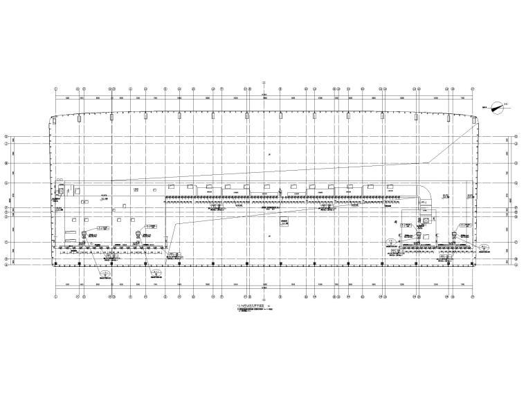 重庆武陵山机场改扩建项目暖通图纸负荷计算-10.9m空调送风管平面图